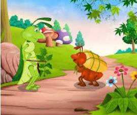 cerita hewan semut dan belalang