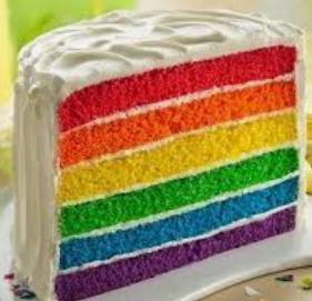 cara membuat rainbow cake